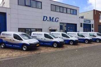 Vestiging en wagenpark van DMG Holland BV.
